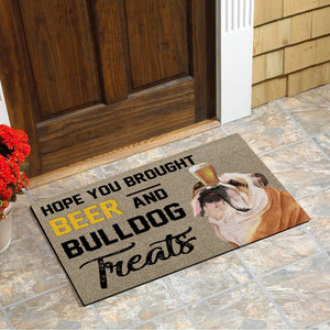 Bulldog Doormat Floor Mat Door Mat For Indoor Or Outdoor Use, Utility Mat For Entryway, Home Gym