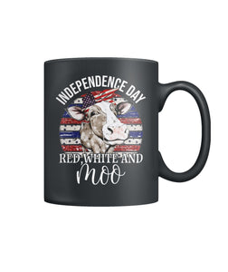 Independence day, red white and moo Color Coffee Mug