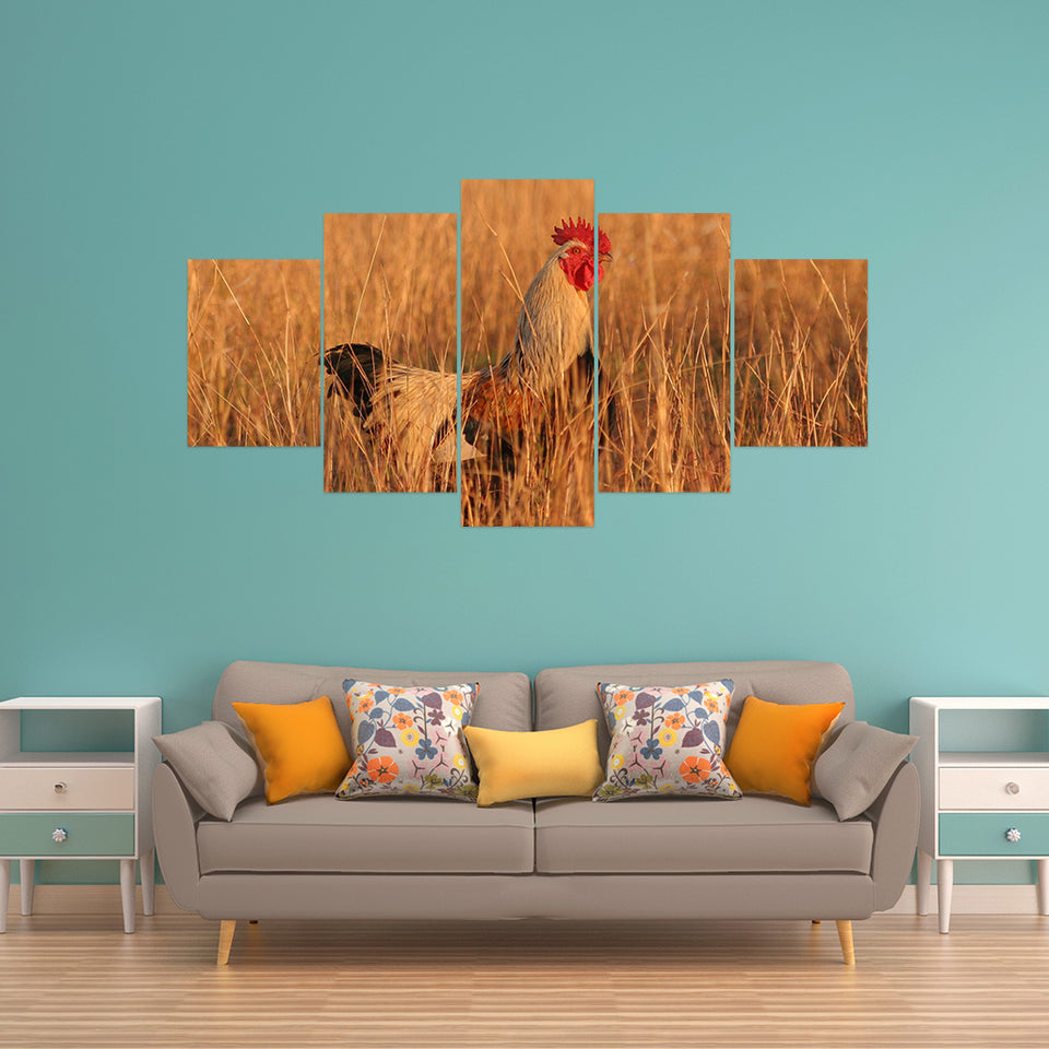 Wall Art 5pcs - Chicken Lovers 03