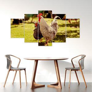 Wall Art 5pcs - Chicken Lovers 02