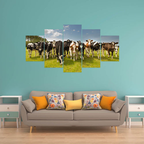 Wall Art 5pcs - Cow Lovers 06