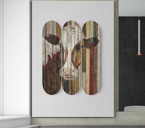 3 Skateboard Wall Art - cow 6