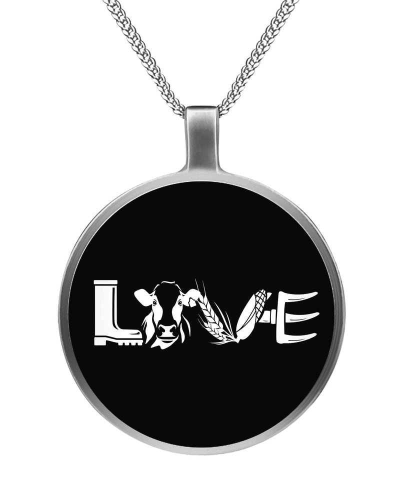 Love cow Necklace - Barnsmile.com-Barnsmile.com-shirt, tees, clothings, accessories, shoes, home decor
