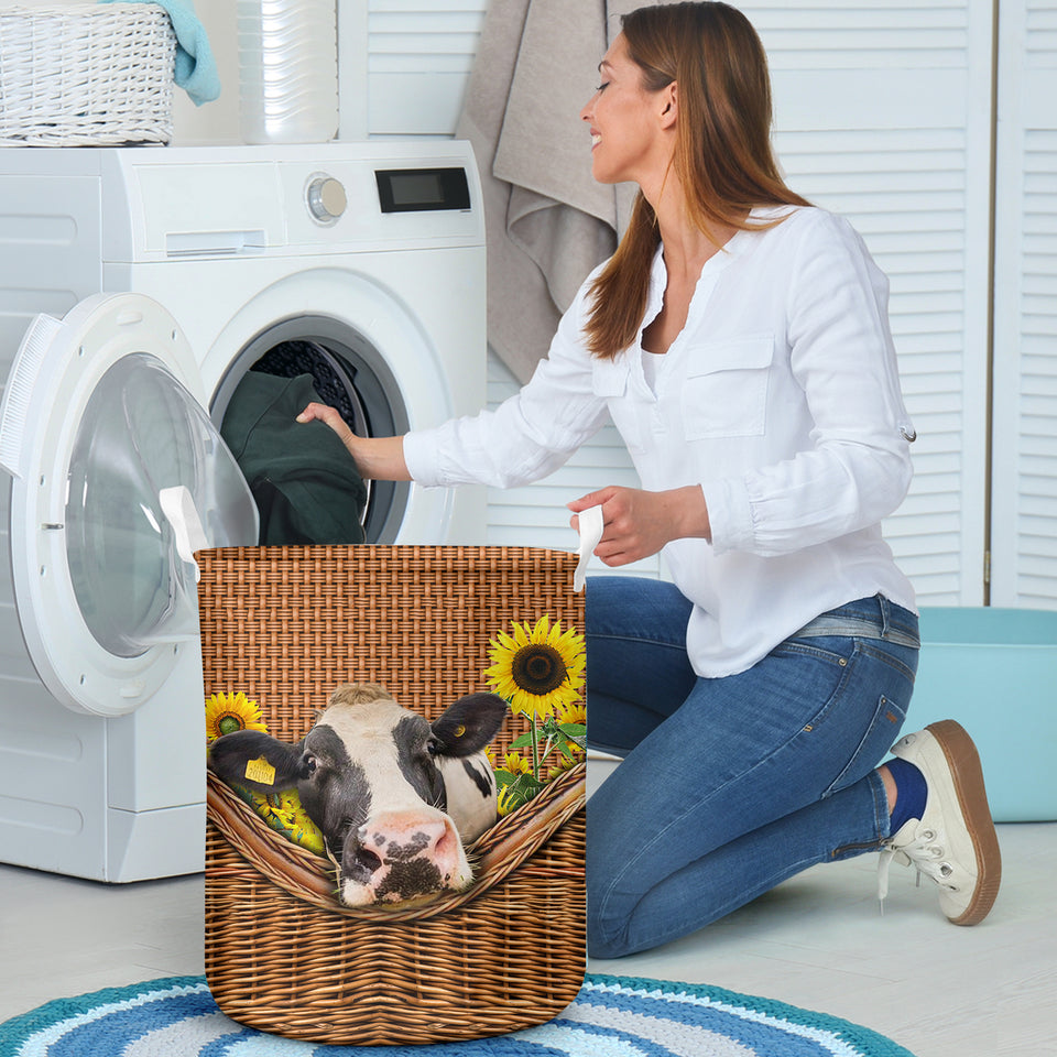 Dairy Cows  Laundry Basket Funny Comfort Carry Women 3D Kitchen & Home All Over Print