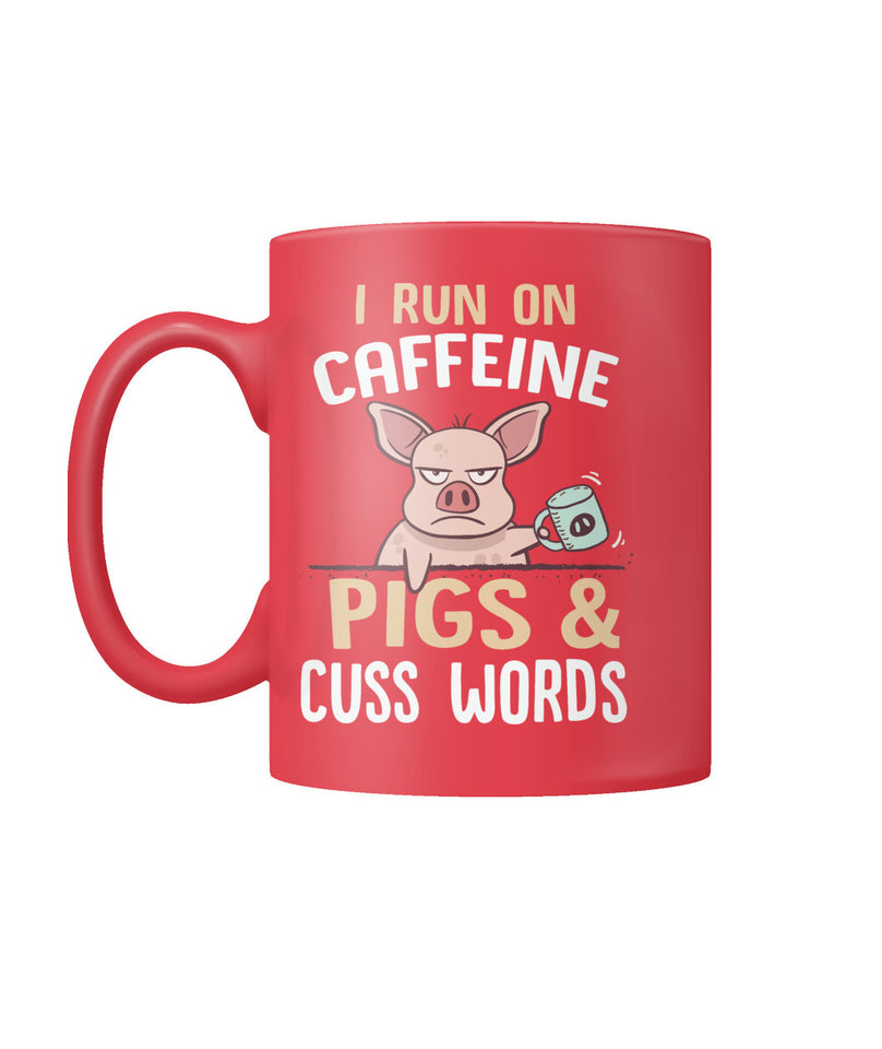 i Run on caffeine pigs and cuss words - Barnsmile.com-Barnsmile.com-shirt, tees, clothings, accessories, shoes, home decor