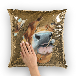 cow-01 Sequin Cushion Cover