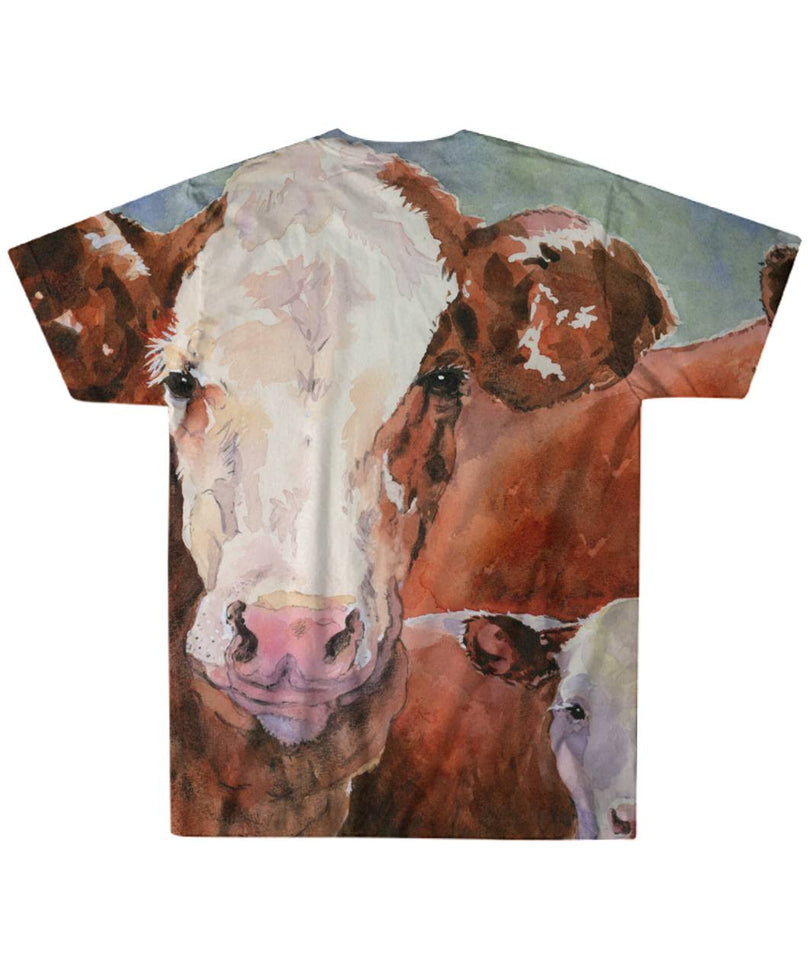 Full painting cow p1- shirt