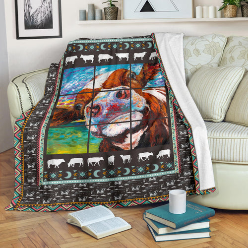 Premium Blanket Cute Cow Printed-sk04