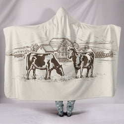Hooded Blanket - cow style 33