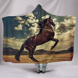 Hooded Blanket - horse style 20