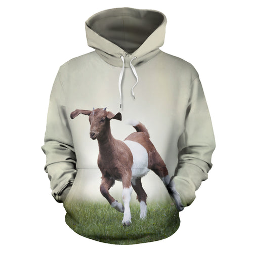 All over print hoodie for men & women - Goat 02