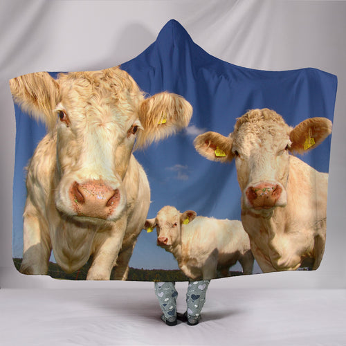 Hooded Blanket - cow style 11