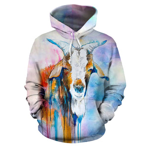 All over print hoodie for men & women - goat 16