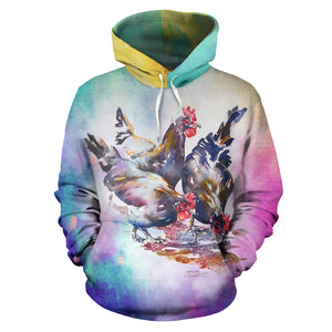 All over print hoodie for men & women - Chicken 13