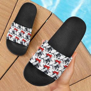 Slide Sandals Black - Cow 02