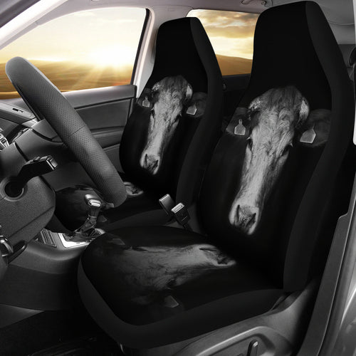 Black and White-2 car seat covers