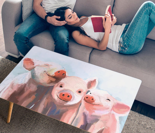 Rectangular Coffee Table - Pig Lovers 02 (US Only)