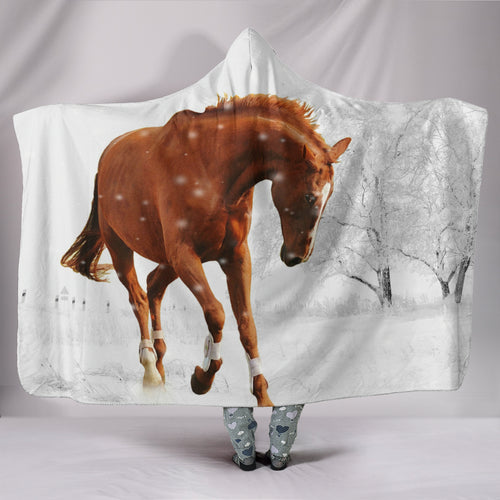 Hooded Blanket - horse style 17