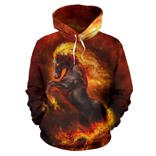 All over print hoodie for men & women - horse 16