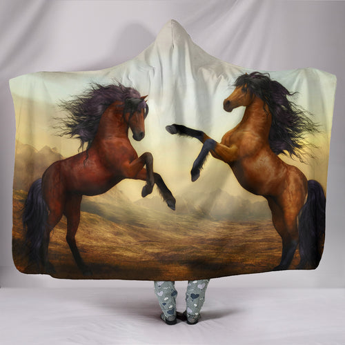 Hooded Blanket - horse style 06