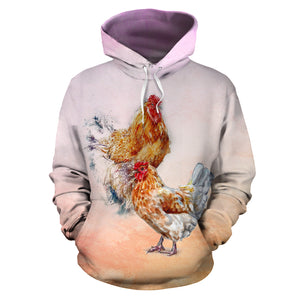 All over print hoodie for men & women - Chicken 20