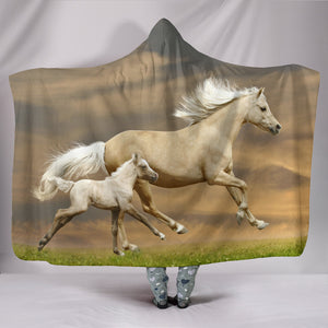 Hooded Blanket - horse style 09