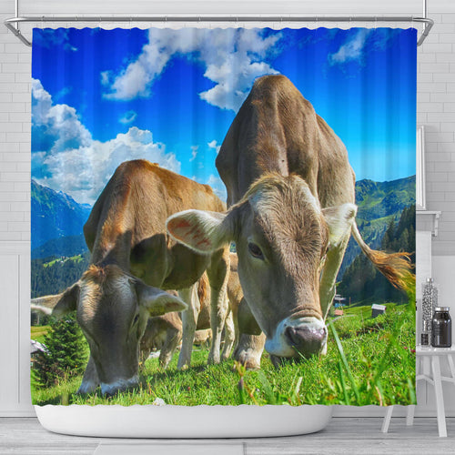 Shower Curtain - Cow Lovers 01