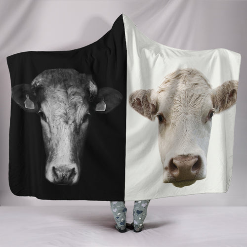 Hooded Blanket - cow style 27