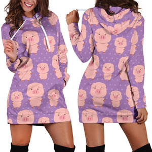 Women's Hoodie Dress - Pig 16