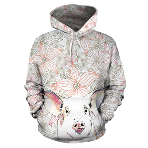 All over print hoodie for men & women - Pig 03