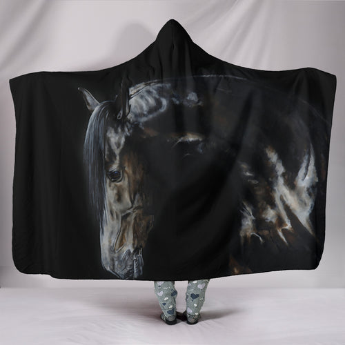 Hooded Blanket - horse style 04
