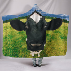 Hooded Blanket - cow style 16