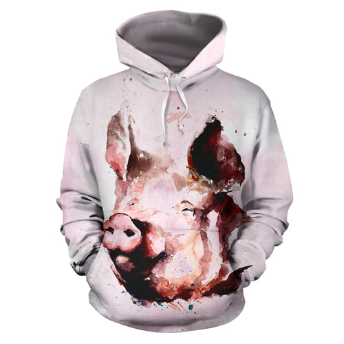 All over print hoodie for men & women - Pig 11