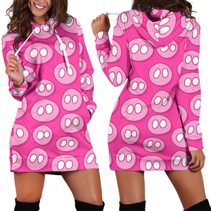 Women's Hoodie Dress - Pig 11