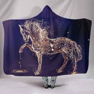 Hooded Blanket - horse style 07