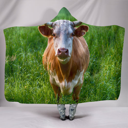 Hooded Blanket - cow style 6