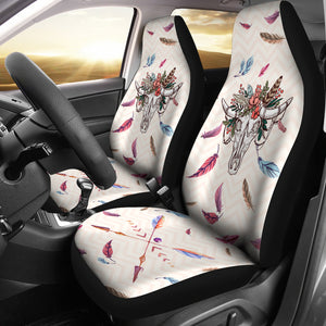 skull cow-2 car seat covers