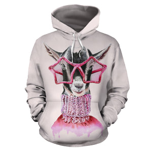 All over print hoodie for men & women - Goat 08