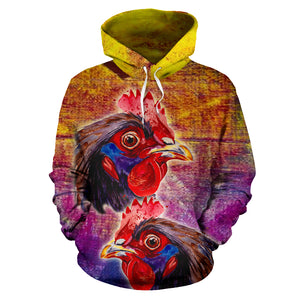 All over print hoodie for men & women - Chicken 10