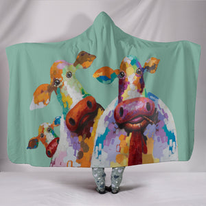 Hooded Blanket - cow style 35