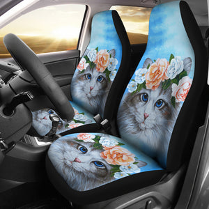 Car Seat Covers - Cat Lovers 08