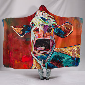 Hooded Blanket - cow style 34
