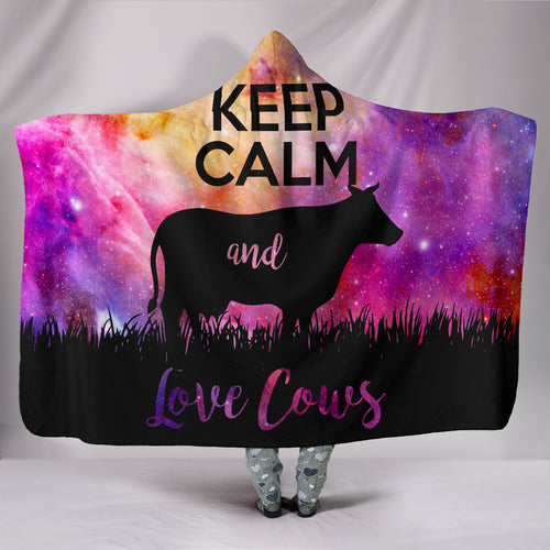 Hooded Blanket - cow style 20