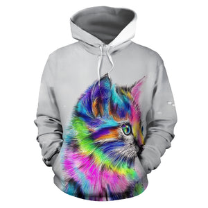 All over print hoodie for men & women - Cat