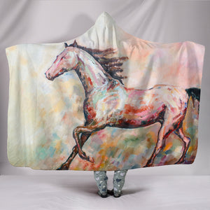 Hooded Blanket - horse style 08
