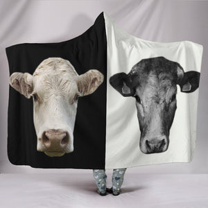 Hooded Blanket - cow style 28