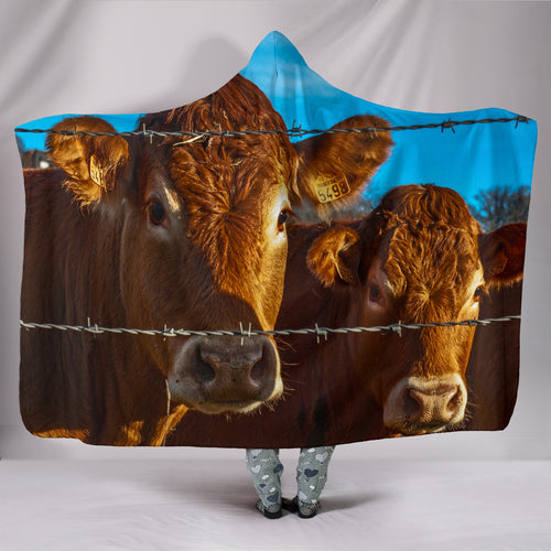 Hooded Blanket - cow style 3