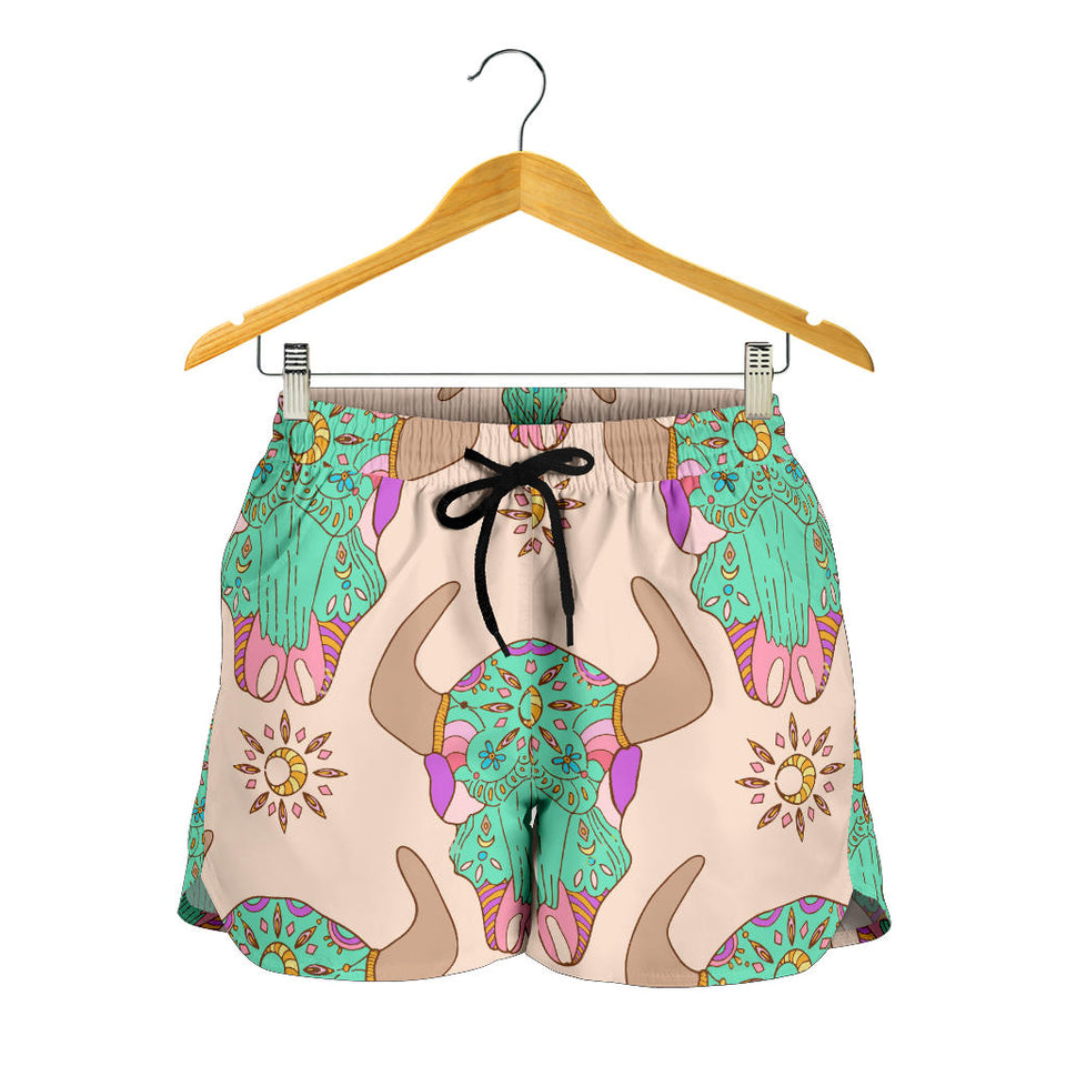 All over print women's shorts - cow 10