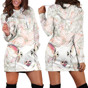 Women's Hoodie Dress - Pig 05