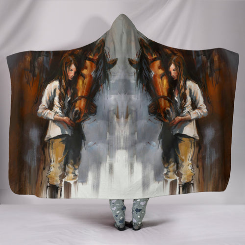 Hooded Blanket - horse style 02